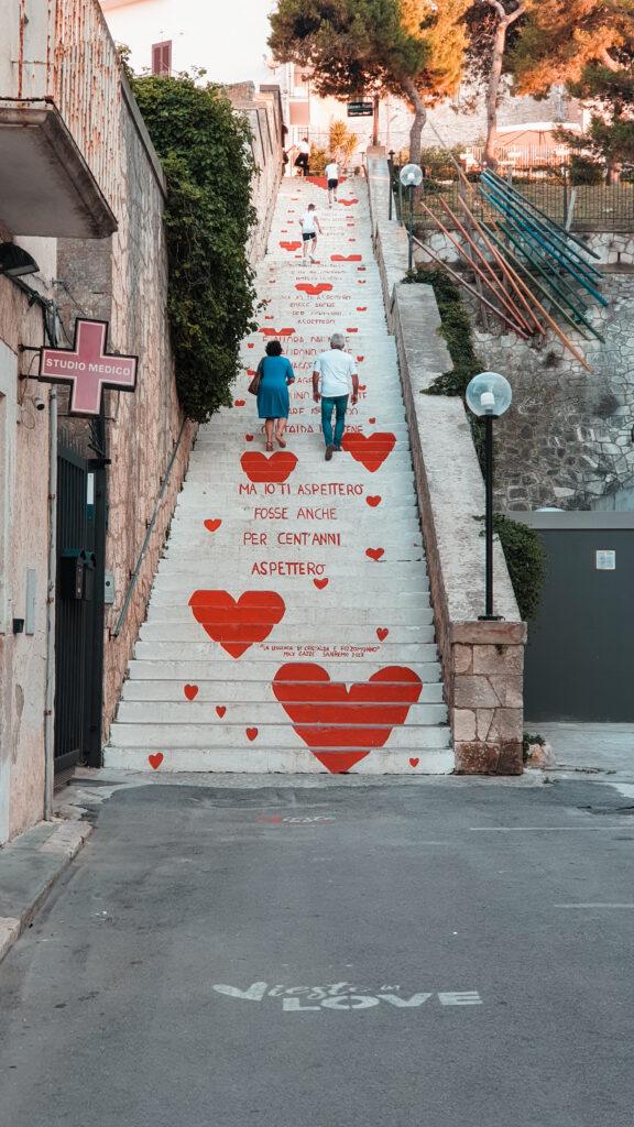 scalinata dell'amore Vieste