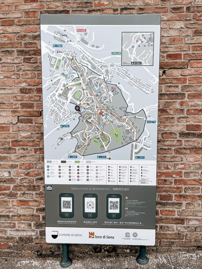 cartina di siena