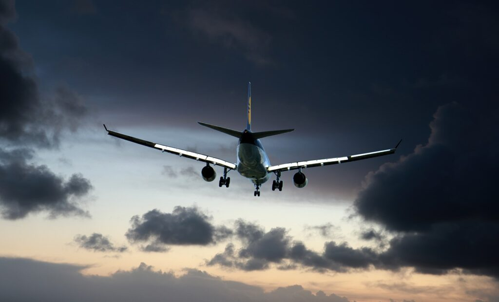 valigia in aereo